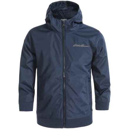 Eddie Bauer Wind Jacket - Hooded, Full Zip (For Little Boys) in Navy - Closeouts