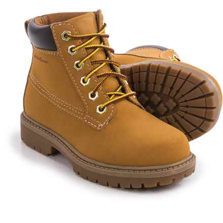 Eddie Bauer Work Boots - Waterproof (For Big Boys) in Wheat - Closeouts