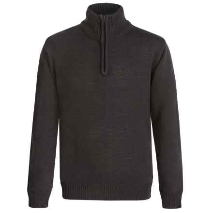 Eddie Bauer Zip Neck Sweater (For Big Boys) in Charcoal - 2nds
