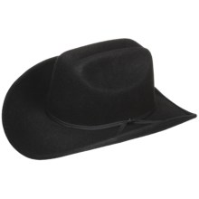 Eddy Bros. by Bailey Brahma Cowboy Hat - Wool Felt, Cattleman Crown (For Men and Women) in Black - Closeouts