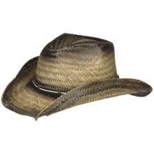 Eddy Bros. by Bailey Danson Cowboy Hat - Raffia Straw, Pinch Crown (For Men and Women) in Natural - Closeouts