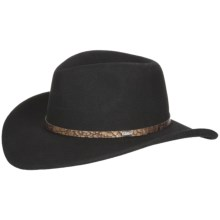 Eddy Bros. by Bailey Gator Cowboy Hat - Wool Felt, Cassidy Crown (For Men and Women) in Black - Closeouts