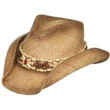 Eddy Bros. by Bailey Jatoba Cowboy Hat - Raffia Straw, Pinch Crown (For Women) in Natural - Closeouts