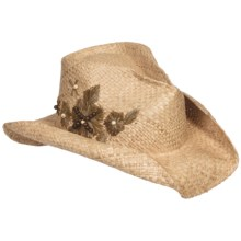 Eddy Bros. by Bailey Maven Cowboy Hat - Raffia Straw, Pinch Crown (For Men and Women) in Natural - Closeouts