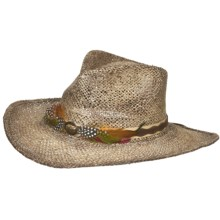 Eddy Bros. by Bailey Modelo Cowboy Hat - Pinch Crown, Straw (For Men and Women) in Natural/Chocolate - Closeouts