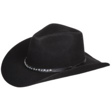 Eddy Bros. by Bailey Surefire Cowboy Hat - Wool Felt, Hondo Crown (For Men and Women) in Black - Closeouts