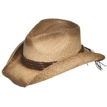 Eddy Bros. by Bailey Vallance Cowboy Hat - Raffia Straw, Pinch Crown (For Men and Women) in Natural - Closeouts