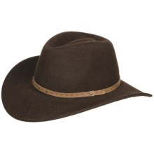 Eddy Bros. by Bailey Vegas Cowboy Hat - Wool Felt, Cassidy Crown (For Men and Women) in Beaver - Closeouts