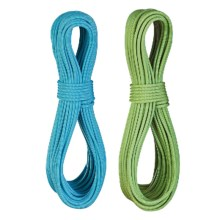 Edelrid Flycatcher Pro Line Climbing Rope Set with Micro Jul - 6.9mm, 70m in Oasis/Icemint - Closeouts