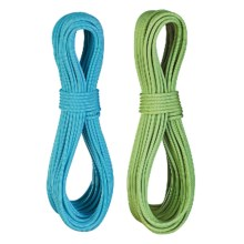 Edelrid Flycatcher Pro Line Climbing Rope Set with Micro Jul Belay Device - 6.9mm, 60m in Oasis/Icemint - Closeouts