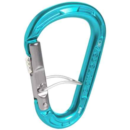 Edelrid HMS Strike Safelock Carabiner in Icemint - Closeouts