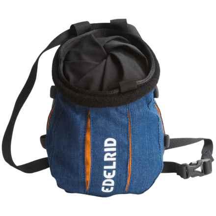Edelrid Trifid Twist Chalk Bag in Denim/Sahara - Closeouts