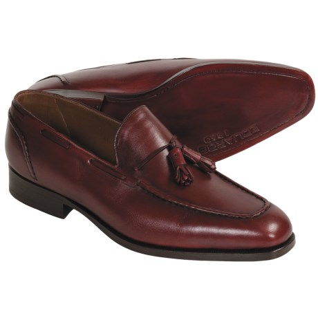 Eduardo G. Dandy Tasseled Dress Shoes - Leather (For Men) in Pigment Burgundy