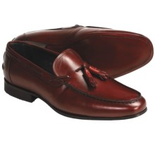 Eduardo G. Florence Tasseled Loafer Shoes - French Calf Leather (For Men) in Red Oak - Closeouts