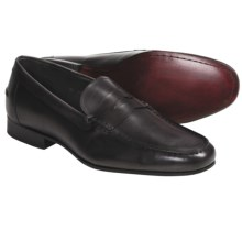 Eduardo G. Portofino Penny Loafer Shoes - French Calf Leather (For Men) in Grey - Closeouts