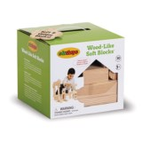 Edushape Soft Foam Wood-Like Blocks Set - 30-Piece