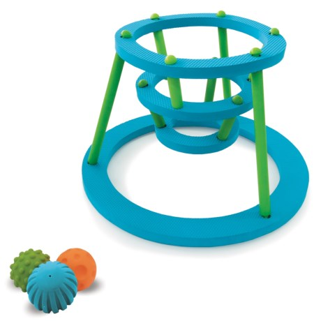 Edushape Tubfun Sensory Hoops Floating Bath Toy in Aqua/Green/Orange