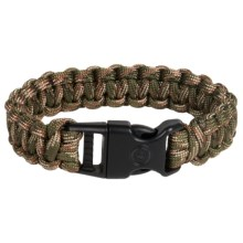 "eGear Paracord Survival Bracelet - 8"" in Camo Green/Brown - Closeouts"