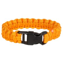 "eGear Paracord Survival Bracelet - 8"" in Orange - Closeouts"