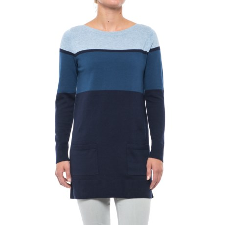 Eight Eight Eight Color-Block Tunic Sweater (For Women) in Blue
