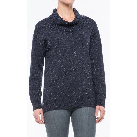 Eight Eight Eight Donegal Sweater - Cowl Neck (For Women) in Navy