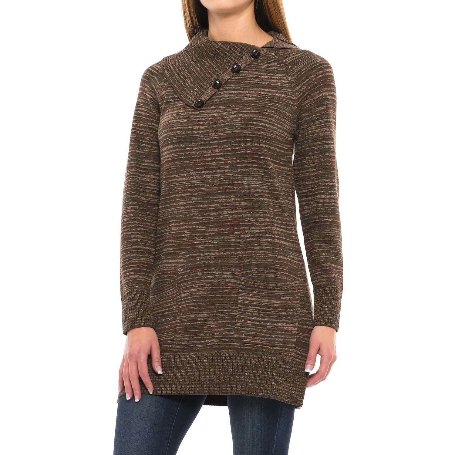 Eight Eight Eight Space-Dye Tunic Sweater (For Women) - Save 66%