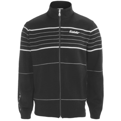 Eisbar Merino Wool Jet Ski Sweater - Zip Front (For Men) in Black
