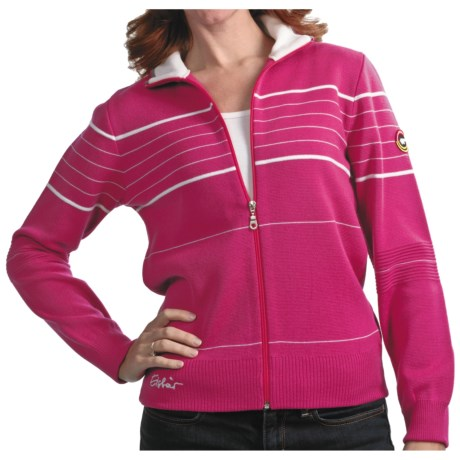 Eisbar Merino Wool Jet Ski Sweater - Zip Front (For Women) in Pink