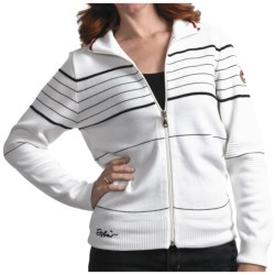 Eisbar Merino Wool Jet Ski Sweater - Zip Front (For Women) in White