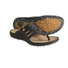 El Naturalista Ikebana N127 Thong Sandals - Leather (For Women) in Black - Closeouts