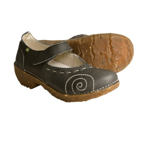 El Naturalista N095 Iggdrasil Mary Jane Clogs - Leather (For Women) in Cuero