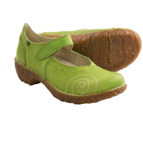 El Naturalista N095 Iggdrasil Mary Jane Clogs - Leather (For Women) in Green