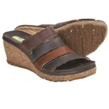 El Naturalista N402 Wedge Sandals (For Women) in Brown Multi - Closeouts