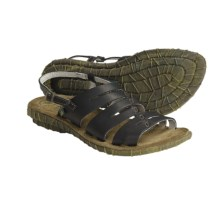 El Naturalista Palma N710 Strappy Sandals - Leather (For Women) in Black - Closeouts