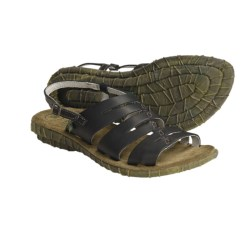 El Naturalista Palma N710 Strappy Sandals - Leather (For Women) in Black