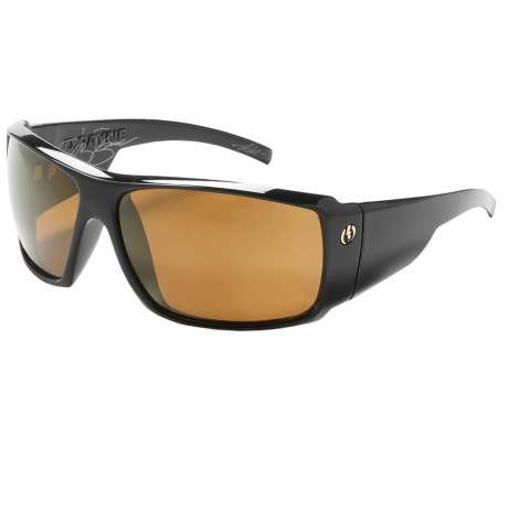 Electric D Payne Sunglasses - Polarized in Black/M2 Bronze
