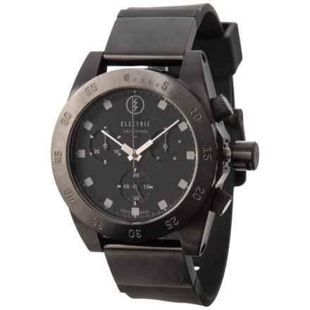 Electric D301 Quartz Chronograph Watch - Interchangeable Bands (For Men and Women) in All Black - Closeouts