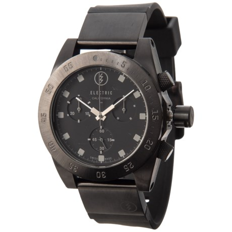 Electric D301 Quartz Chronograph Watch - Interchangeable Bands (For Men and Women) in All Black