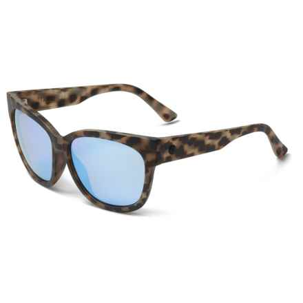 Electric Danger Cat Ohm Lens Sunglasses (For Women) in Nude Tortoise/Ohm Sky Blue Chrome