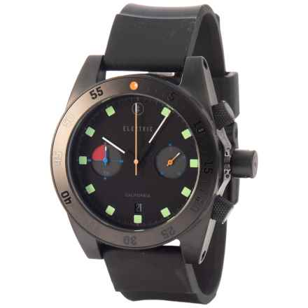 Electric DW02 Analog Watch - Polyurethane Strap (For Men and Women) in All Black / Multi - Closeouts