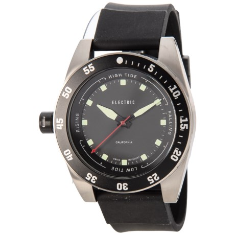 Electric DW03 PU Swiss Analog Watch - Polyurethane Strap (For Men and Women) in Black