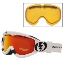 Electric EG1 Snowsport Goggles - Flash-Colored Lens in Gloss White/Bronze/Red Chrome - Closeouts