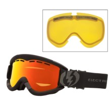 Electric EG1 Snowsport Goggles - Flash-Colored Lens in Missile Exhaust/Bronze/Red Chrome - Closeouts