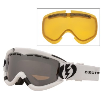 Electric EG1 Snowsport Goggles - Interchangeable Lens in Gloss White/Bronze/Silver Chrome