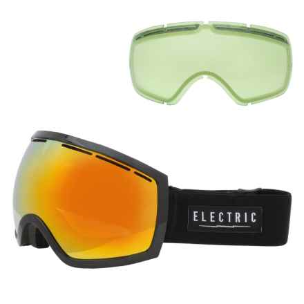 Electric EG2 Ski Goggles - Extra Lens in Gloss Black/Bronze/Red Chrome - Closeouts