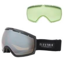 Electric EG2 Ski Goggles - Extra Lens in Gloss Black/Bronze/Silver Chrome - Closeouts