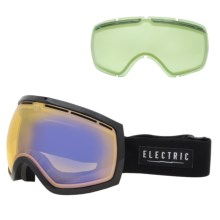Electric EG2 Ski Goggles - Extra Lens in Gloss Black/Yellow/Blue Chrome - Closeouts