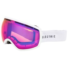 Electric EG2 Ski Goggles - Extra Lens in Gloss White/Rose Blue Chrome - Closeouts