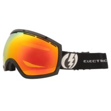Electric EG2 Snowsport Goggles - Flash-Colored Lens in Gloss Black/Bronze/Red Chrome - Closeouts