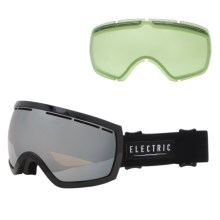 Electric EG2.5 Ski Goggles - Extra Lens in Gloss Black/Bronze/Silver Chrome - Closeouts